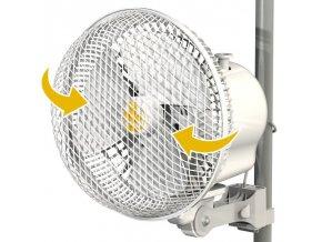 Klipsnový oscilační ventilátor Monkey Fan - Ø21cm, celokovové tiché ventilátory, STOJANOVÝ OSCILAČNÍ VENTILÁTOR, ventilátor, Cirkulační stojanový ventilátor, podlahový ventilátor, Designový stojanový ventilátor, stolní ventilátor, ventilátory, CIRKULAČNÍ VENTILÁTORY