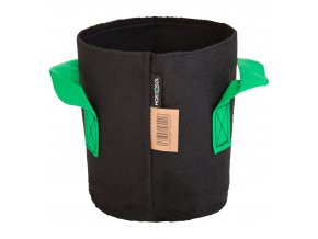 3 Liter Fabric pot black green 15x17cm 2 (1)