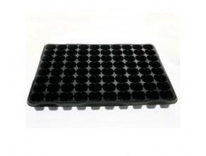 Plastový sadbovač pro 80 sadbovacích kostiček, černý 40 x 40 cm.