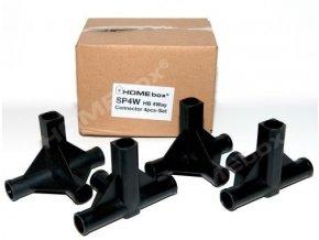 HOMEbox náhradní díl - plastová spojka se třemi vývody, Ø 16mm, BOX 8ks