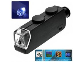 mg10081 1 microscope de poche 60x 100x zoom led lu