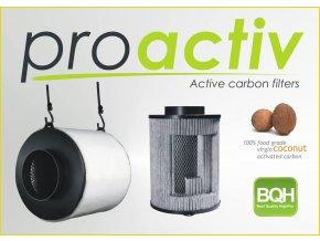 Kokosový filtr ProActiv - 400m3/h - Ø125