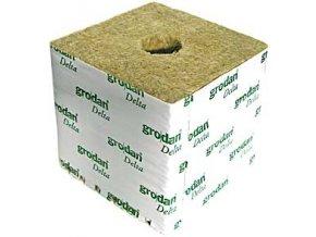 GRODAN pěstební kostka 75x75x65mm - s malou dírou