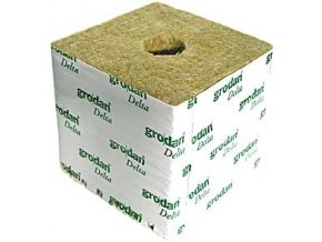 GRODAN pěstební kostka 100x100x65mm - s malou dírou