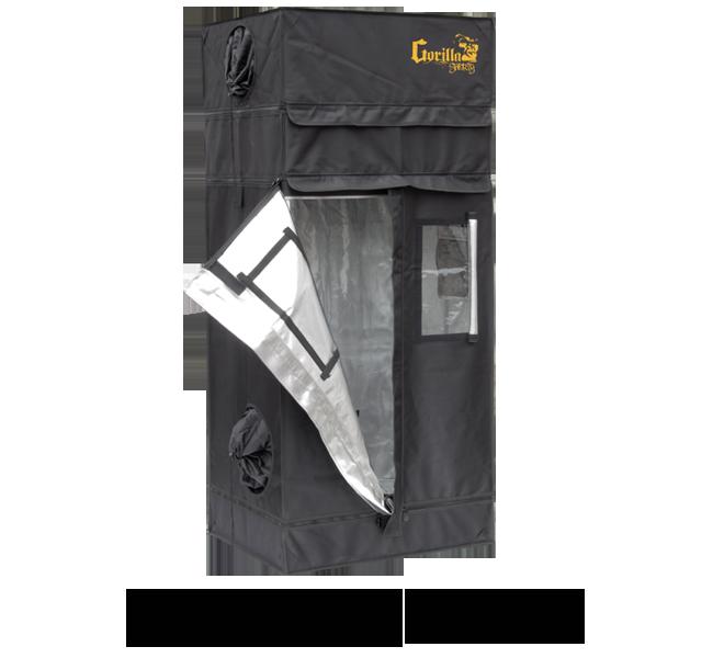 Growbox Gorilla Grow Tent Shorty 76x61x150-173