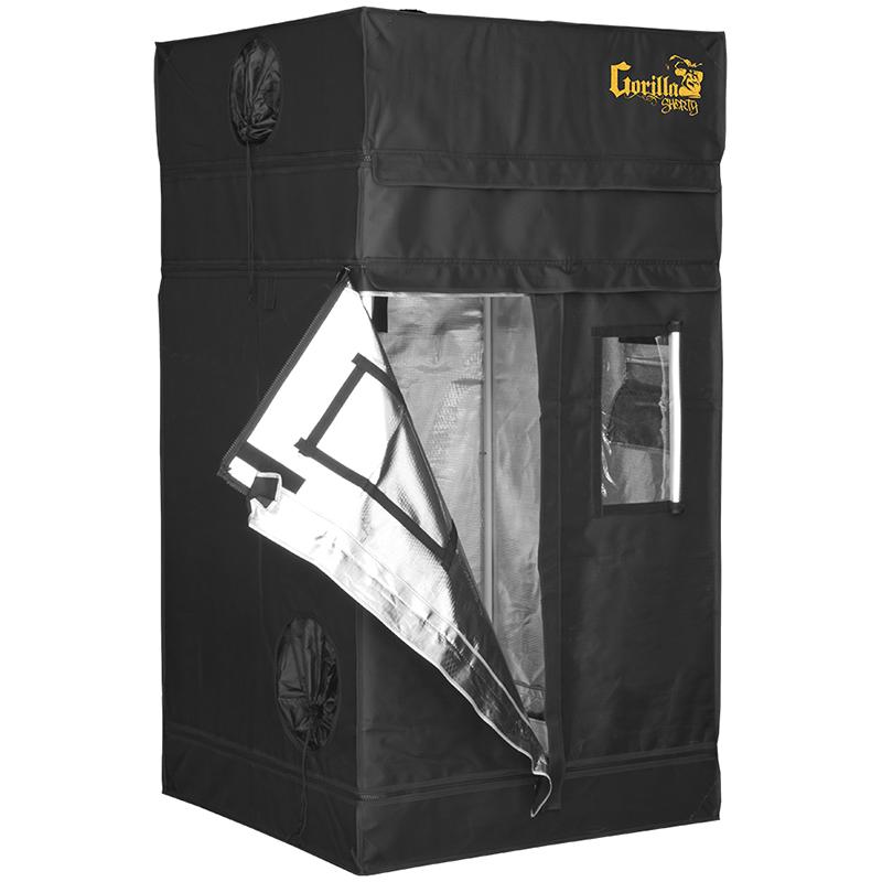 Growbox Gorilla Grow Tent Shorty 92x92x150-173