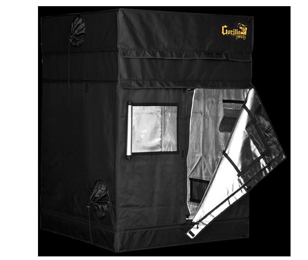 Growbox Gorilla Grow Tent Shorty 122x122x150-173