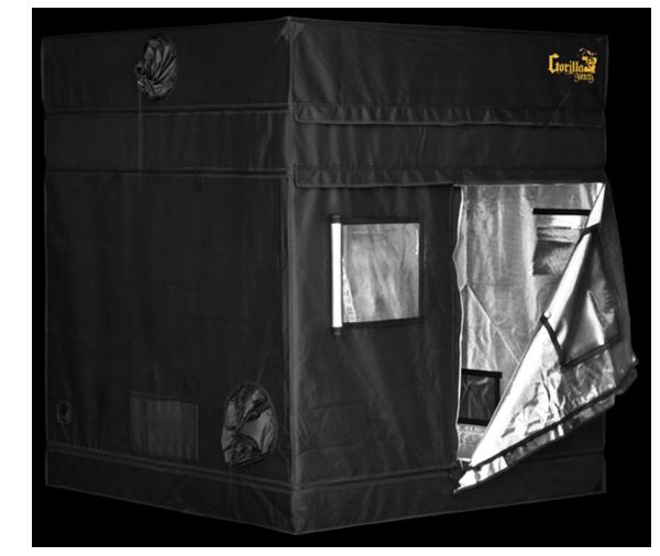 Growbox Gorilla Grow Tent Shorty 152x152x150-173