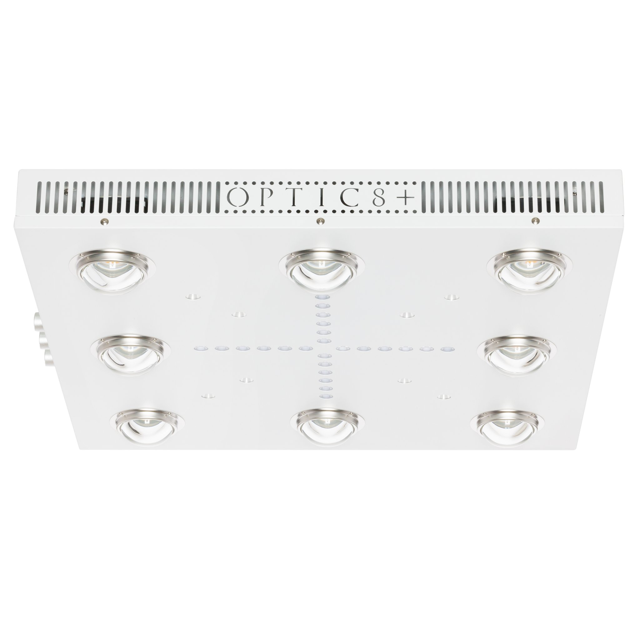 OPTIC LED OPTIC 8+ Dimmable COB LED Grow Light 500W (UV/IR) 3500k COBs - 90 Degree Lenses (4x4)