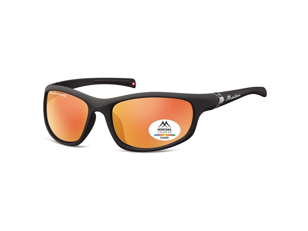 MONTANA EYEWEAR Sportovní polarizační brýle MONTANA SP310B Cat.3 + pouzdro
