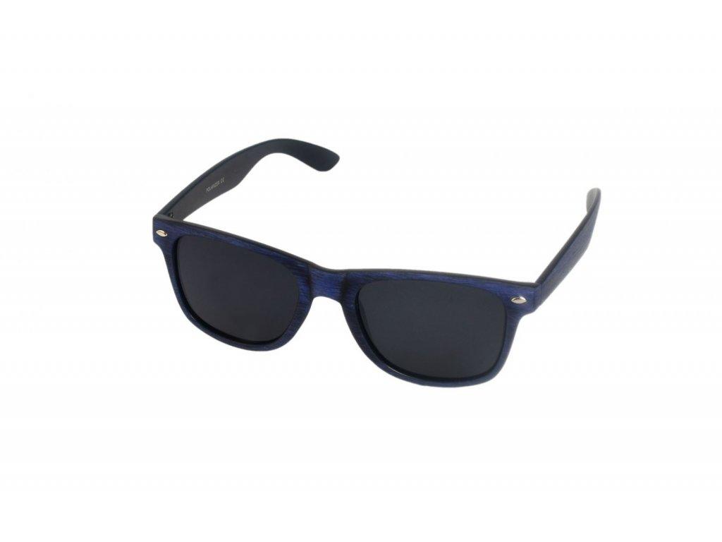 Polarizační brýle imitace dřeva P18508 modrý Cat.3
