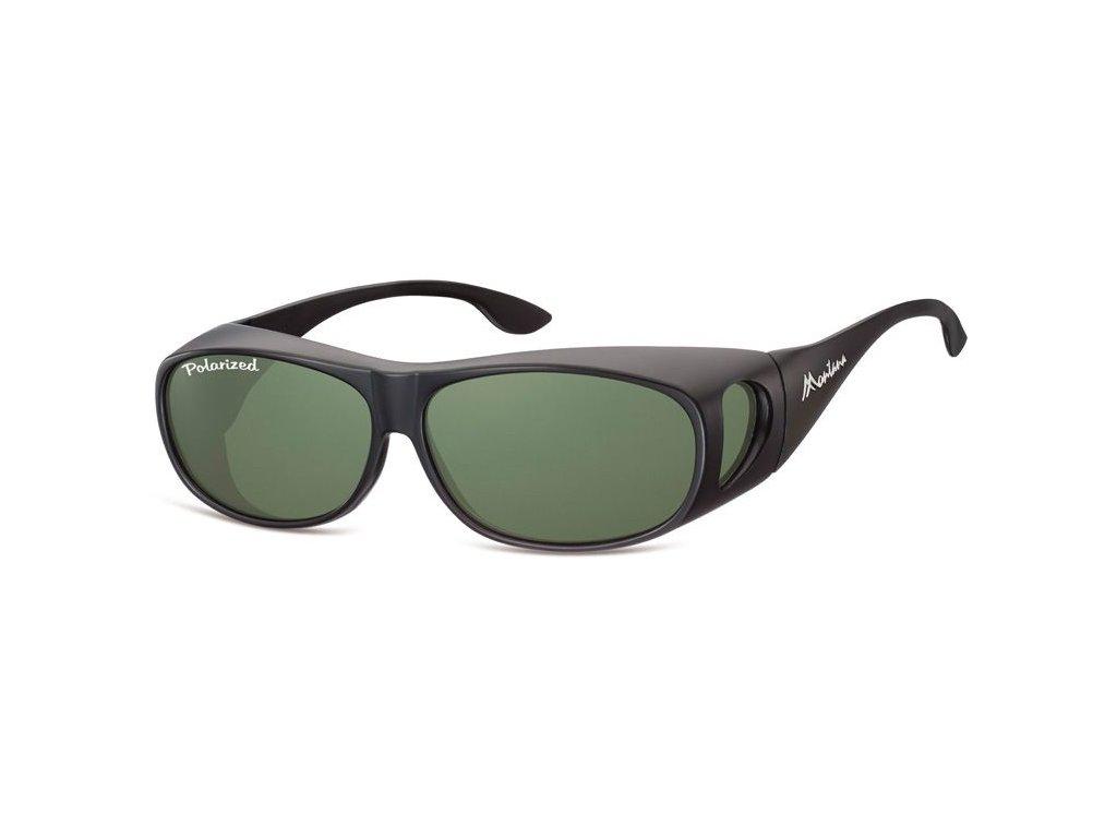 Polarizační brýle Montana na dioptrické brýle se zelenou čočkou v pouzdru