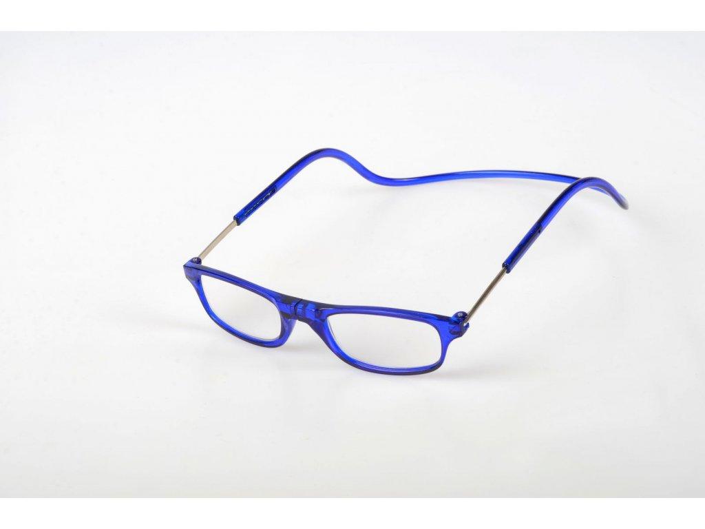 Dioptrické brýle na čtení s magnetem +3,5 - modré obruby