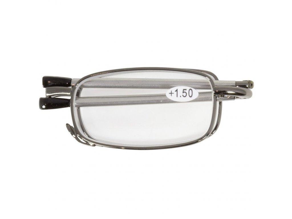 SKLÁDACÍ dioptrické brýle MINI 62-64  SILVER +3,00