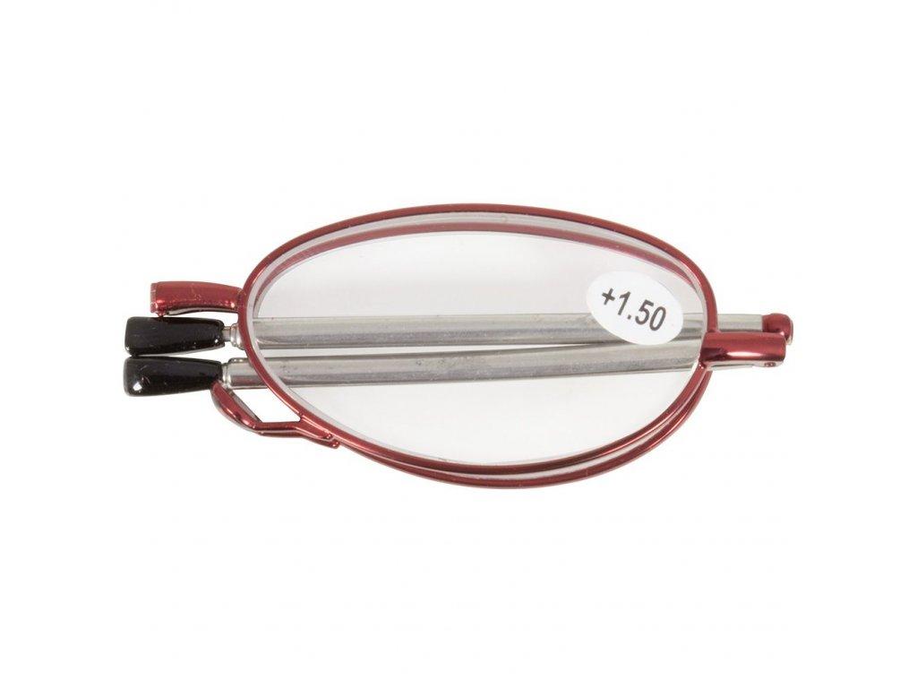 SKLÁDACÍ dioptrické brýle MINI 62-64  RED +1,50