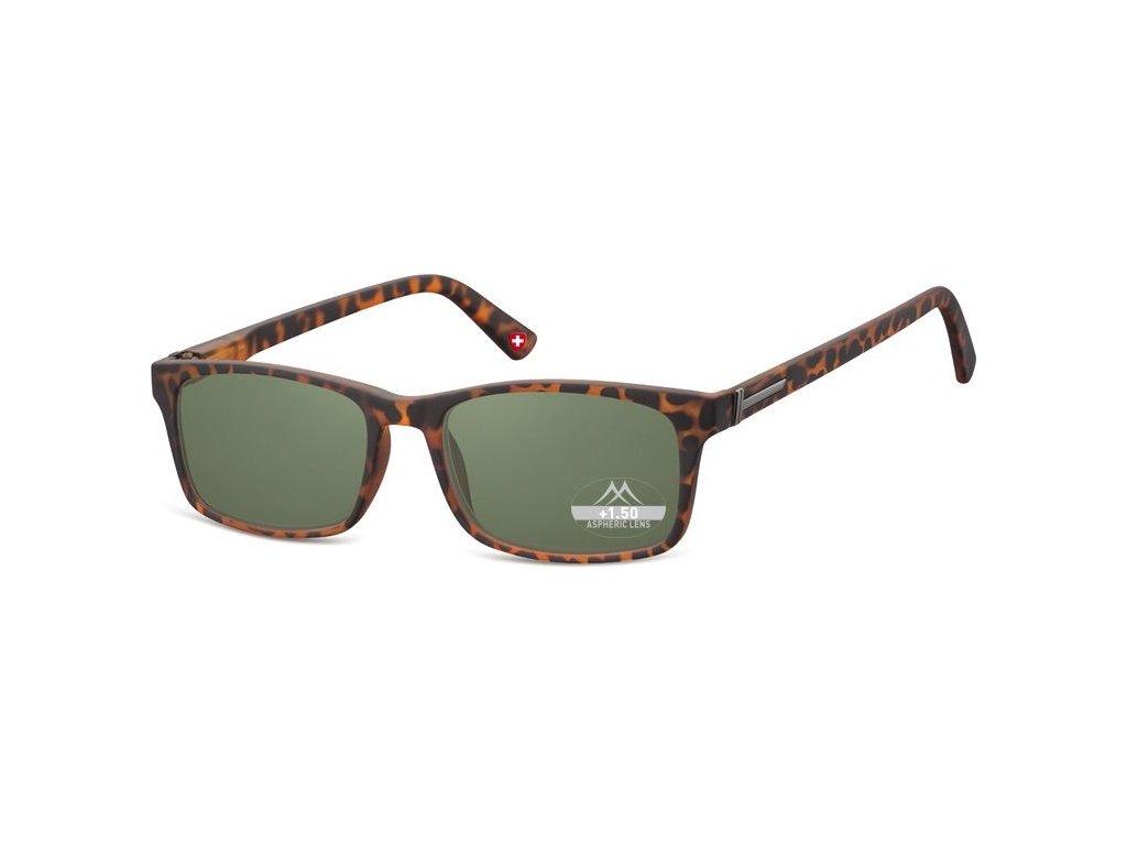 MONTANA EYEWEAR Dioptrické brýle BOX73AS BLACK+3,50 ZATMAVENÉ ČOČKY