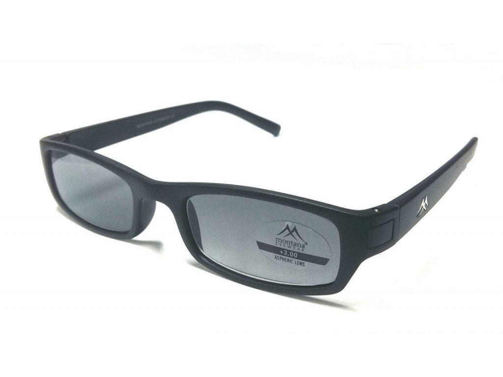 MONTANA EYEWEAR Dioptrické brýle MR59DS BLACK+1,50 ZATMAVENÉ ČOČKY