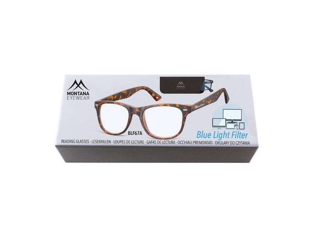 MONTANA EYEWEAR Brýle na počítač BLF BOX 67A bez dioptrií