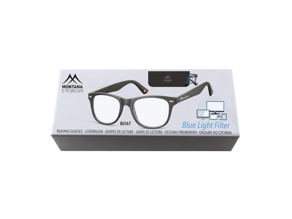 MONTANA EYEWEAR Brýle na počítač BLF BOX 67 BLACK +1,00