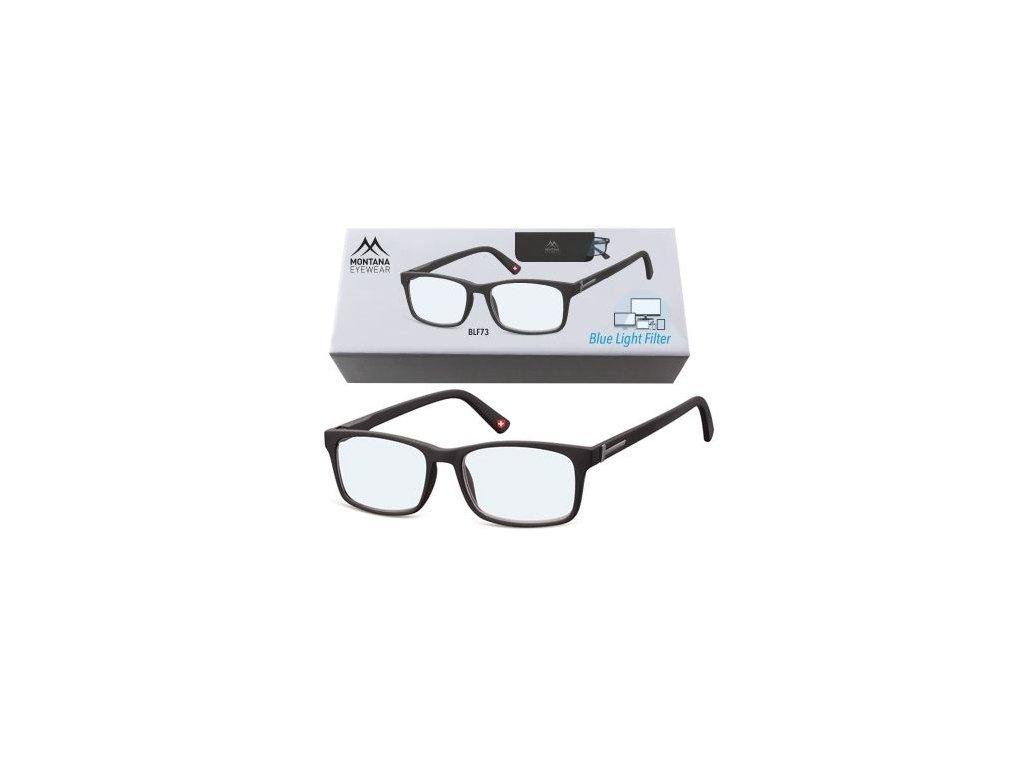 MONTANA EYEWEAR Brýle na počítač BLF BOX 73 BLACK +2,50