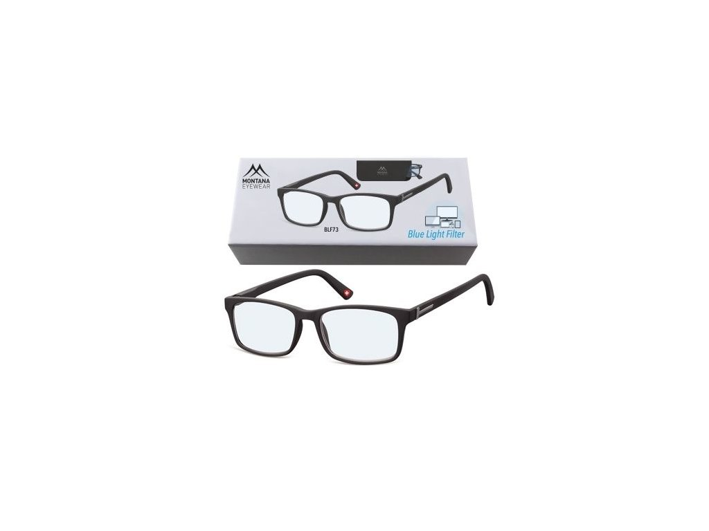 MONTANA EYEWEAR Brýle na počítač BLF BOX 73 BLACK +3,00