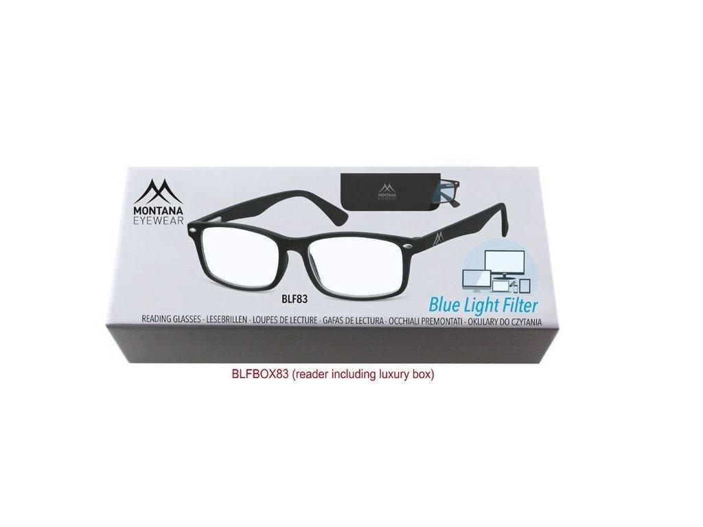 MONTANA EYEWEAR Brýle na počítač BLF BOX 83 s dioptrií +3,00