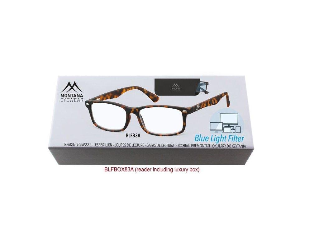 MONTANA EYEWEAR Brýle na počítač BLF BOX 83A s dioptrií +3,00