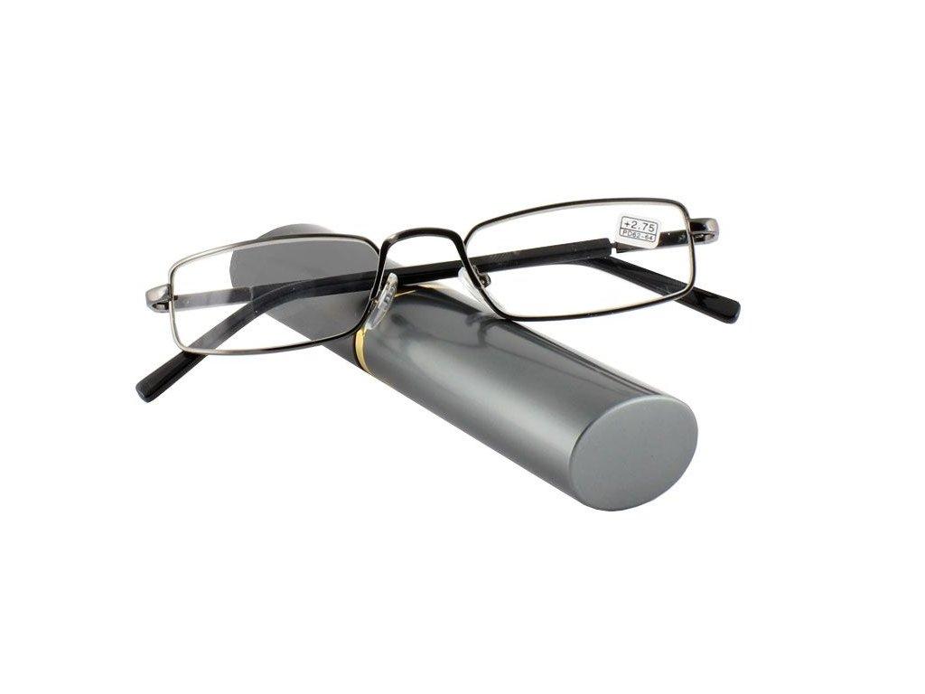 Dioptrické brýle v pouzdru Effect 555/ +0,75 BLUE-SILVER