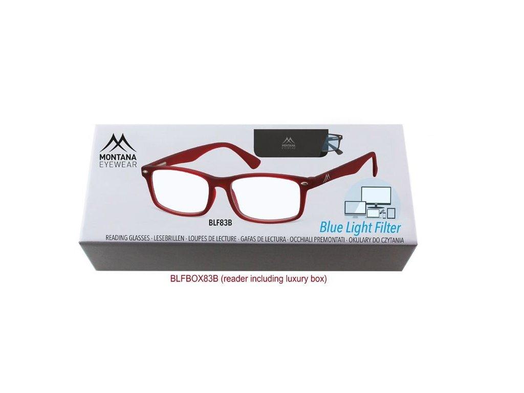 MONTANA EYEWEAR Brýle na počítač BLF BOX 83B s dioptrií +2,50