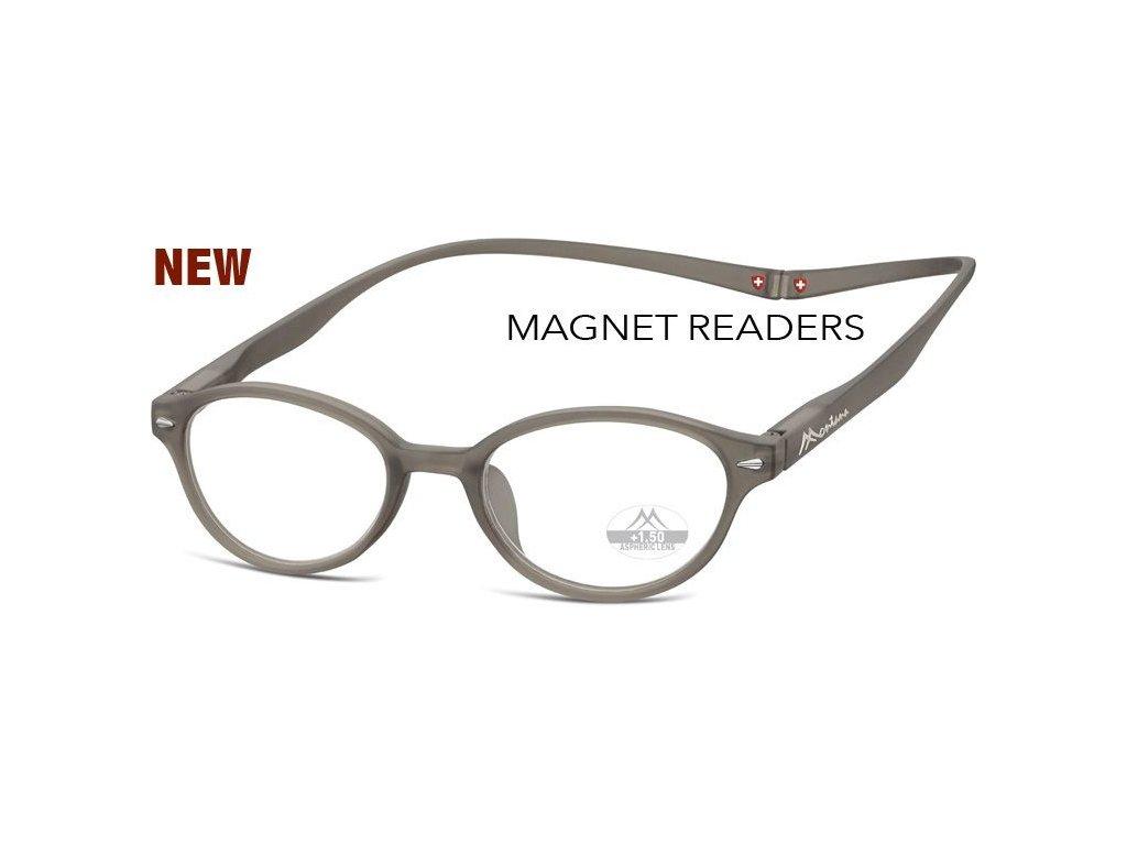 MONTANA EYEWEAR Brýle na čtení s magnetickým spojem za krk MR61C/+2,0