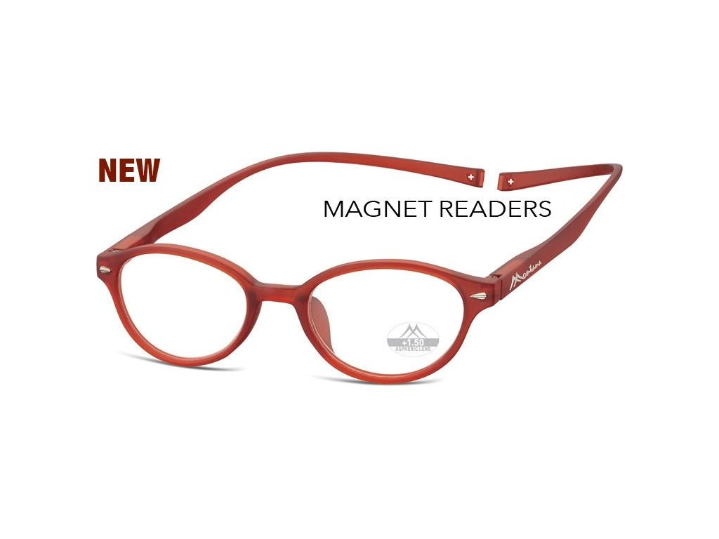 MONTANA EYEWEAR Brýle na čtení s magnetickým spojem za krk MR61D/+1,5