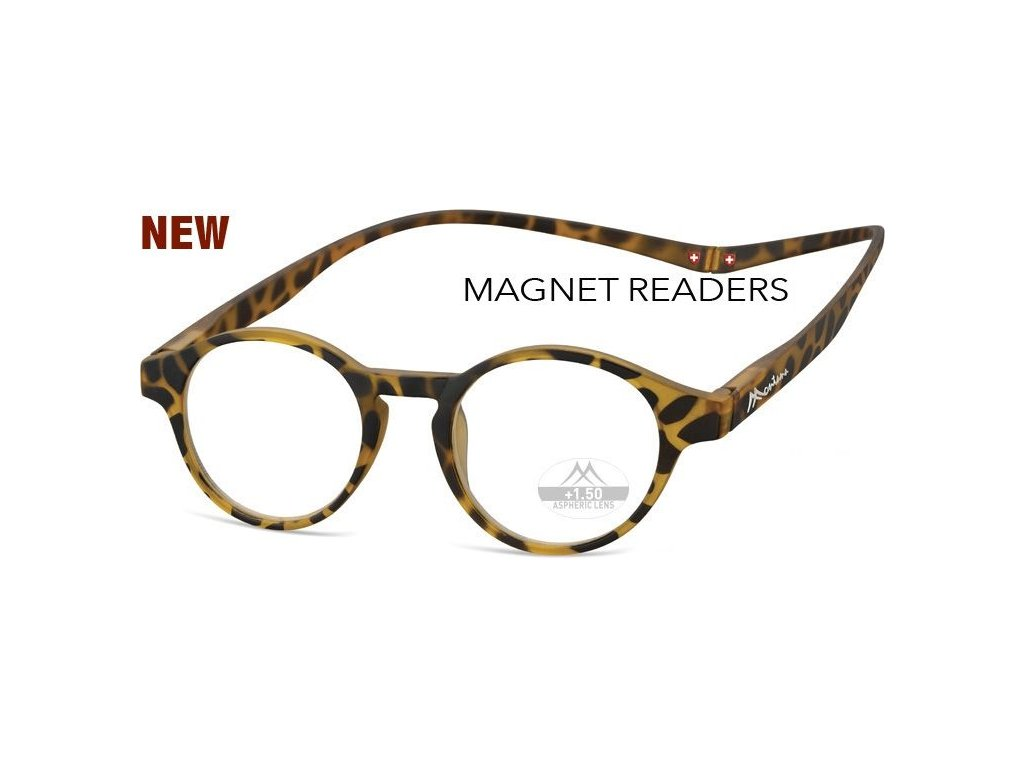 MONTANA EYEWEAR Brýle na čtení s magnetickým spojem za krk MR60A/+3,0
