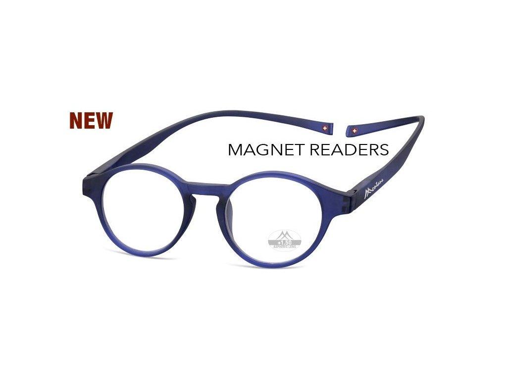 MONTANA EYEWEAR Brýle na čtení s magnetickým spojem za krk MR60B/+3,5