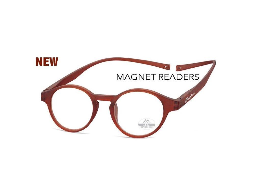 MONTANA EYEWEAR Brýle na čtení s magnetickým spojem za krk MR60D/+2,5