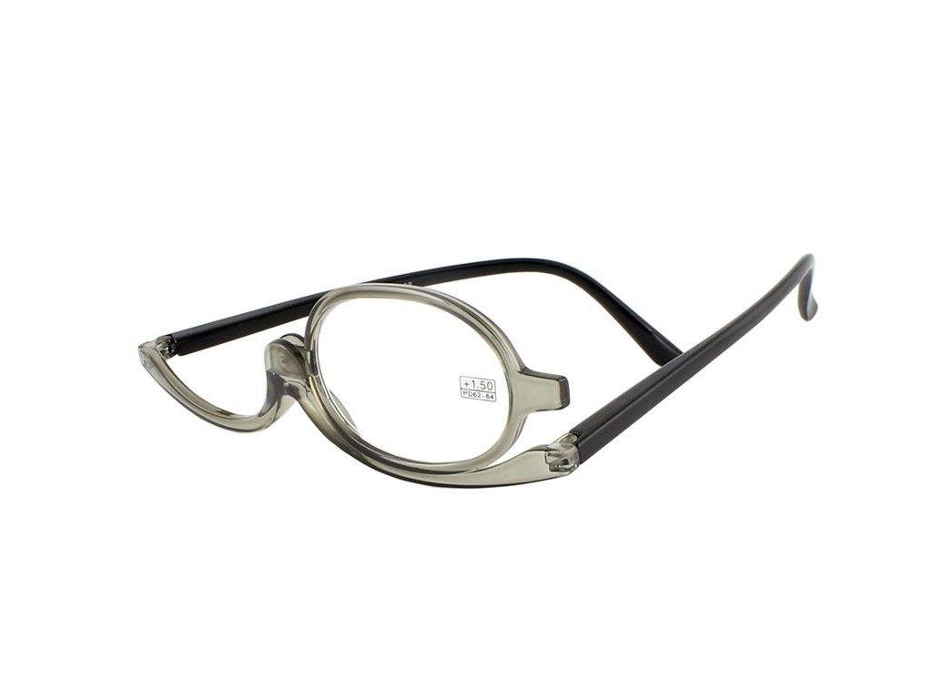 Dioptrické a kosmetické brýle /+3,50 šedé