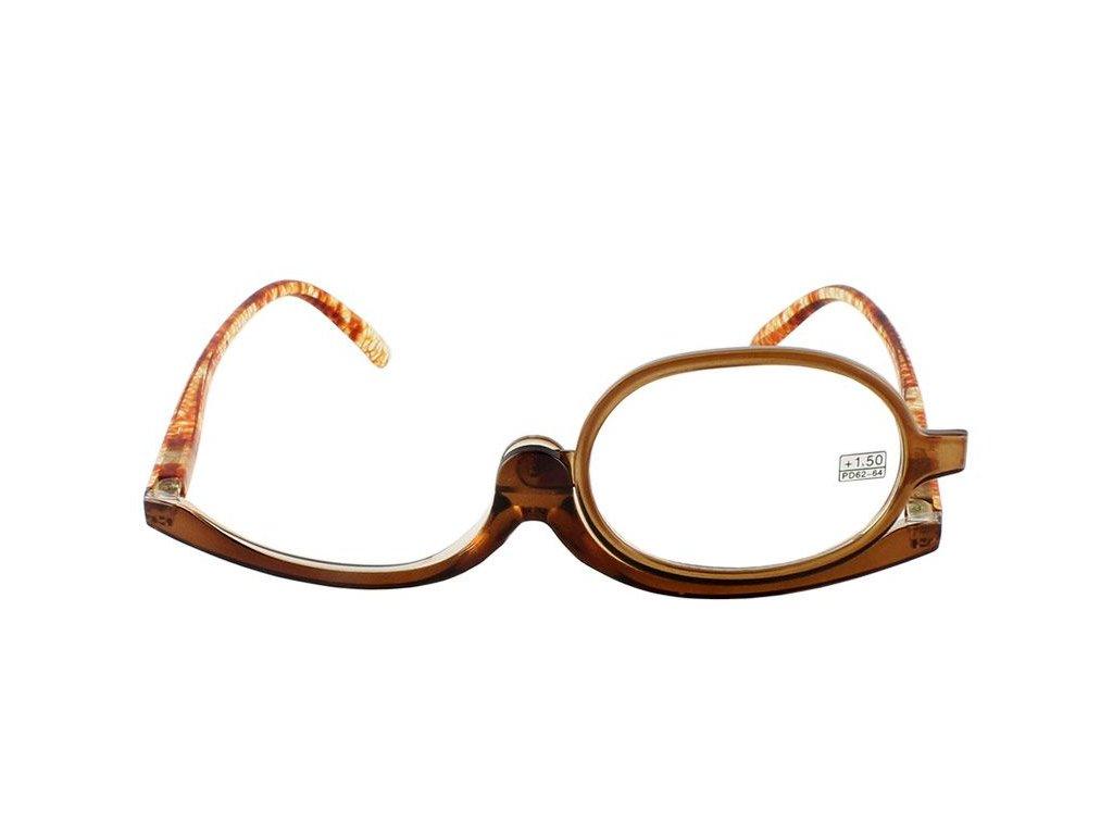 Dioptrické a kosmetické brýle /+2,00 hnědé
