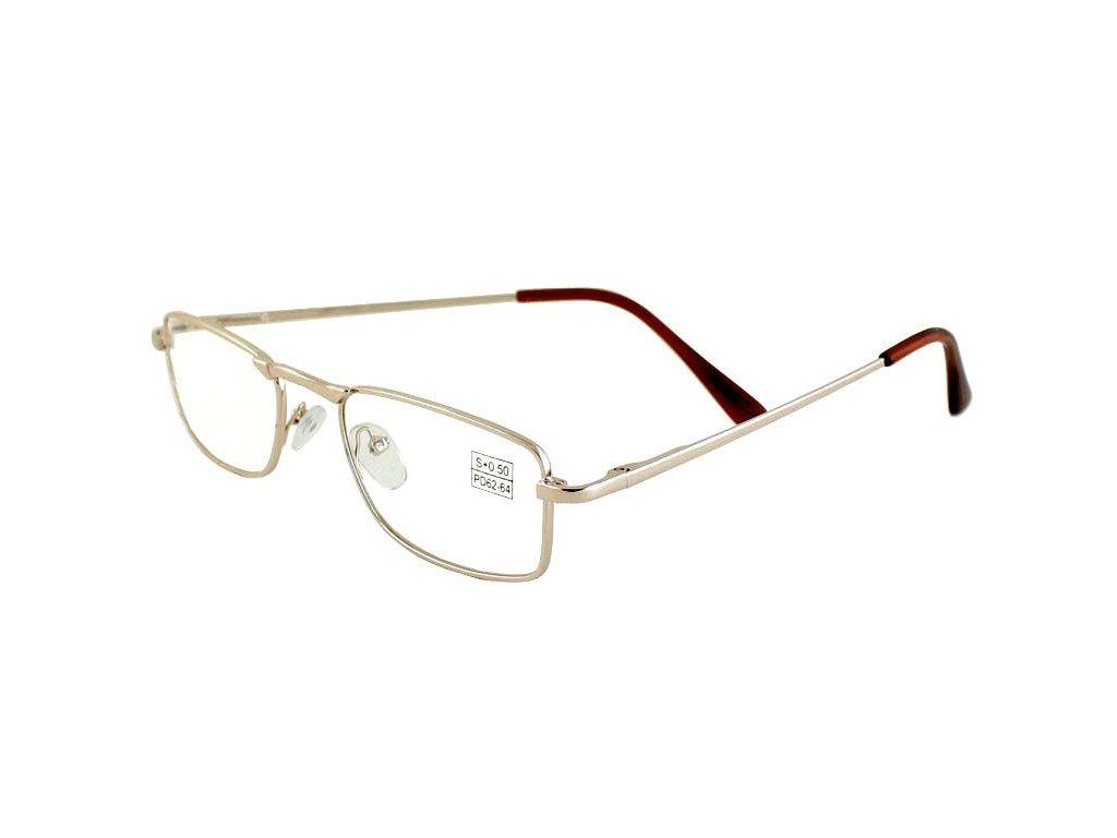 Dioptrické brýle Vista 8008/ +3,50 GOLD s pérováním