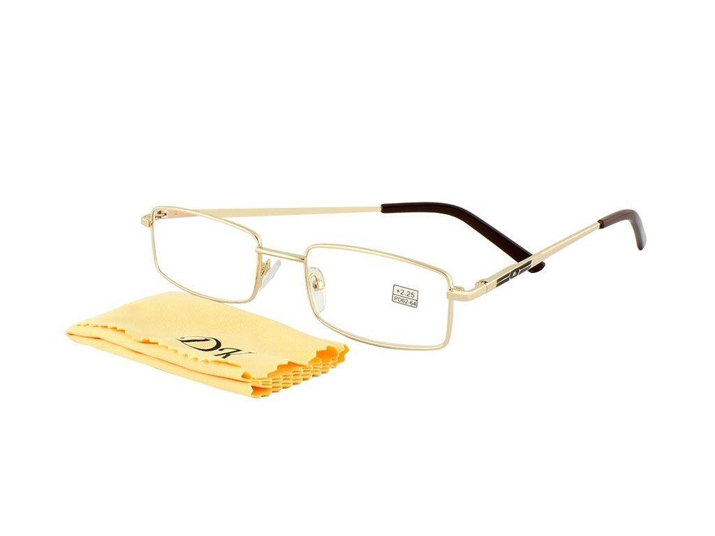 Dioptrické brýle na PC  DK 1001/ +0,50 GOLD s pérováním