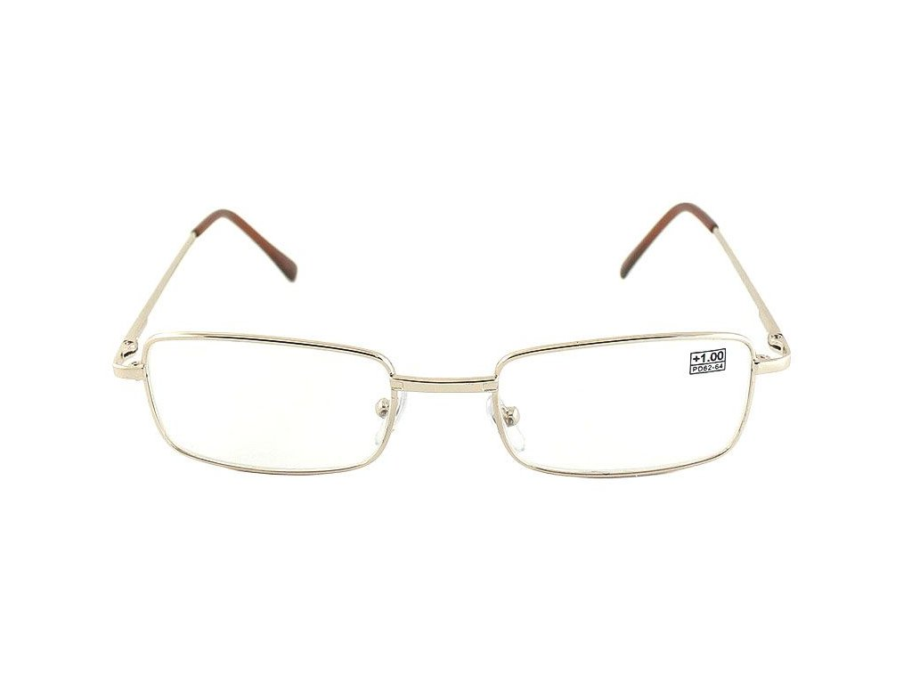 Dioptrické brýle Fabrika GOLD 1001/ +0,50 s pérováním sklo