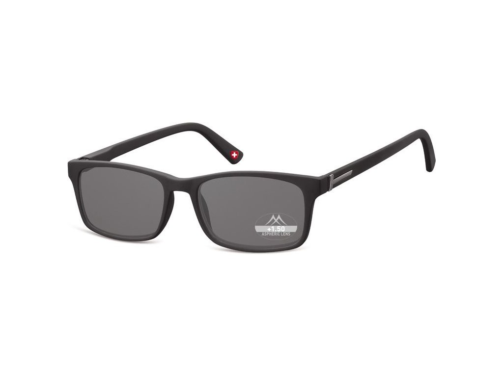 MONTANA EYEWEAR Dioptrické brýle MR73S +1,00 BLACK ZATMAVENÉ ČOČKY