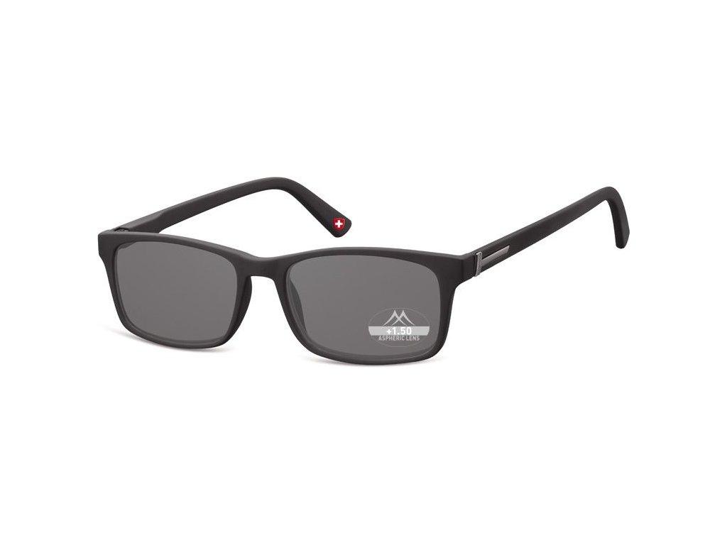 MONTANA EYEWEAR Dioptrické brýle MR73S +2,00 BLACK ZATMAVENÉ ČOČKY