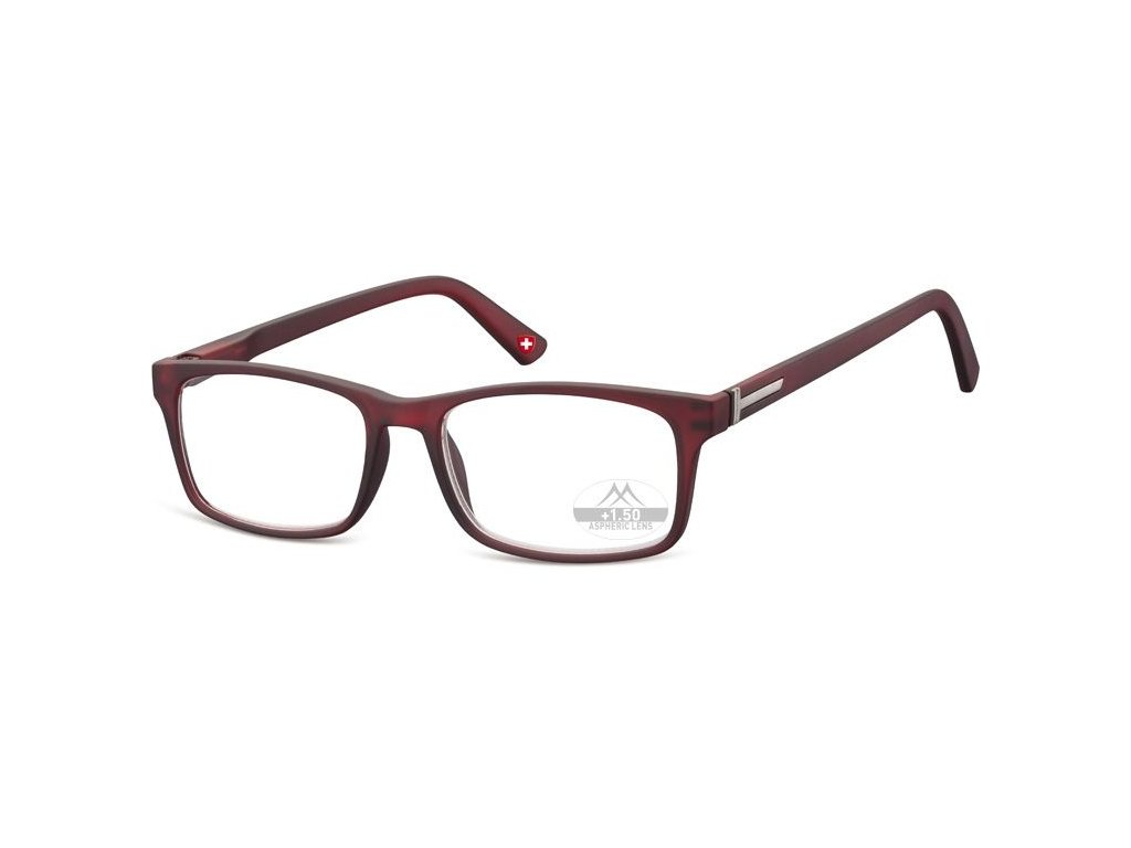 MONTANA EYEWEAR Dioptrické brýle Lihhtweight MR73C RED+3,50