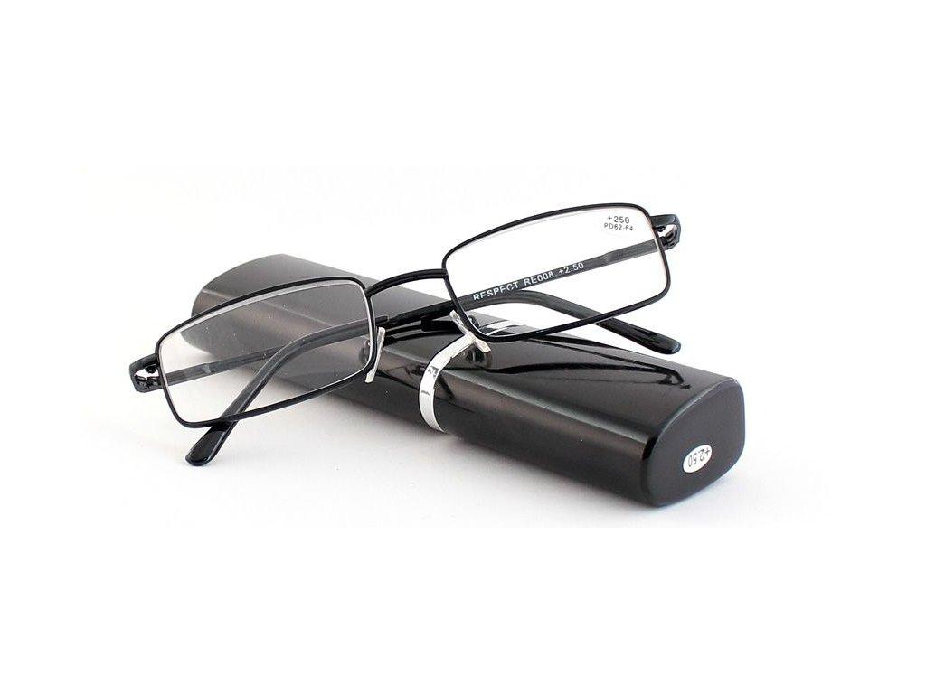 Dioptrické brýle v pouzdru Respect 008/ +2,25 black