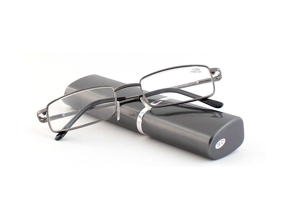 Dioptrické brýle v pouzdru Respect 008/ +2,25 dark green