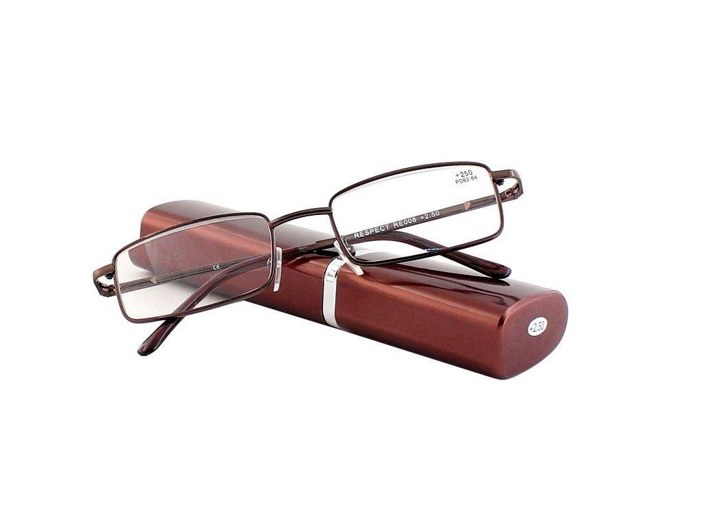 Dioptrické brýle v pouzdru Respect 008/ +3,25 VINE