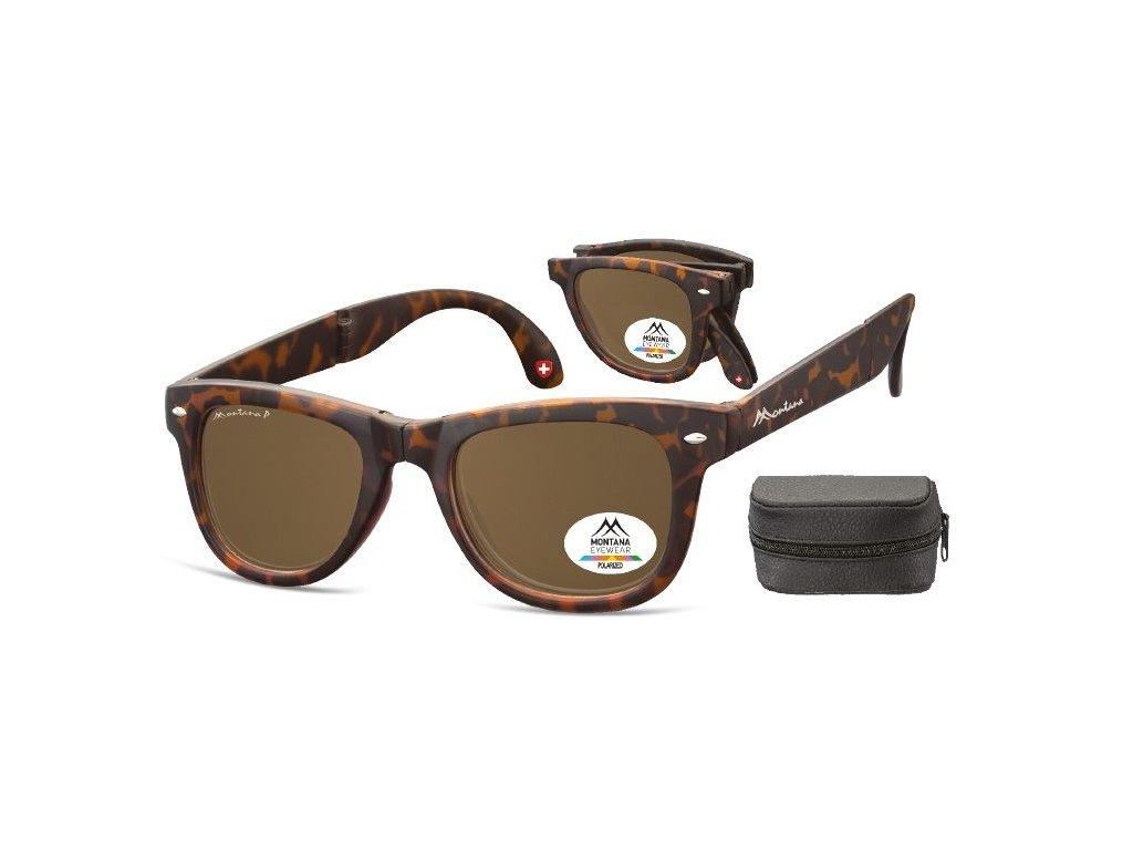 MONTANA EYEWEAR Sluneční skládání brýle BOX-FS40A polarizační čočka