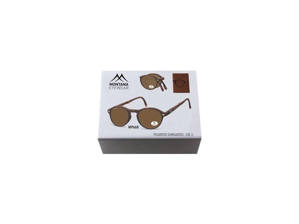 MONTANA EYEWEAR Sluneční skládání brýle BOX-MP66B polarizační čočka
