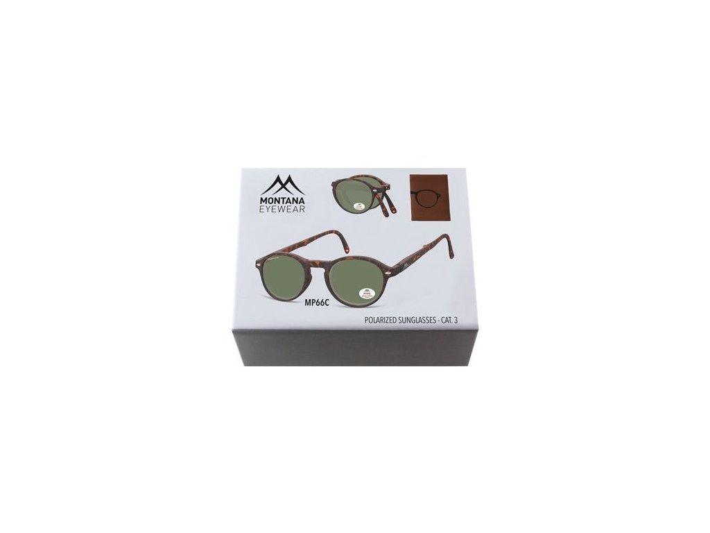 MONTANA EYEWEAR Sluneční skládání brýle BOX-MP66C polarizační čočka