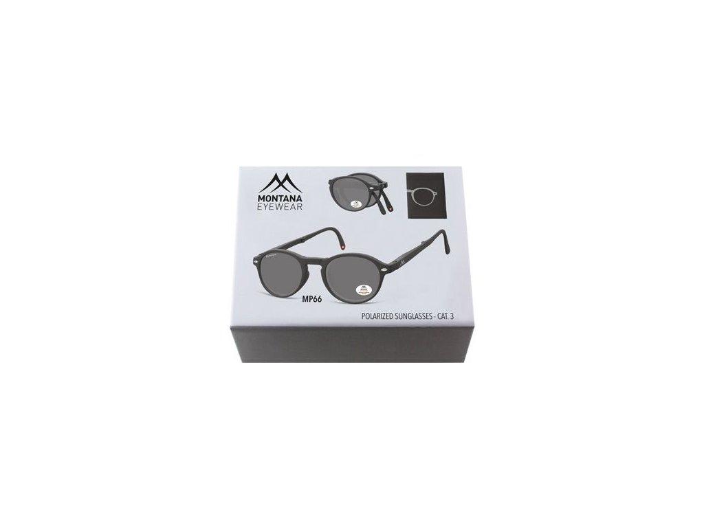 MONTANA EYEWEAR Sluneční skládání brýle BOX-MP66 polarizační čočka