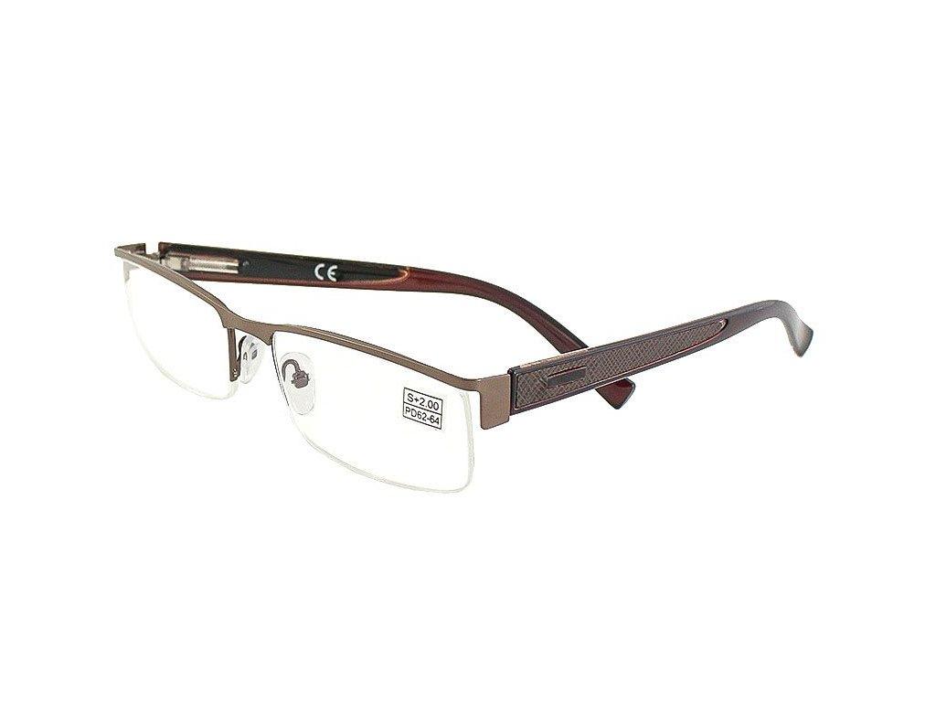 Dioptrické brýle Vizzini 9131/ -1,00 BROWN s pérováním